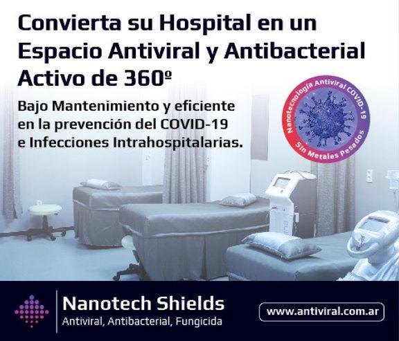 Espacios Antivirales activos Nanotech Shields