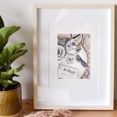 Art Print Bistro Table