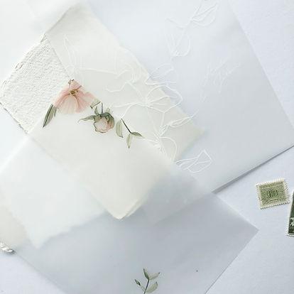 Vellum inlegvellen | design trouwkaarten