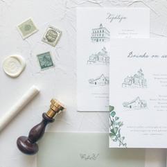 Handgemaakte trouwkaarten