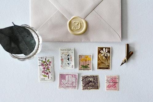 Vintage Postzegels - Roze