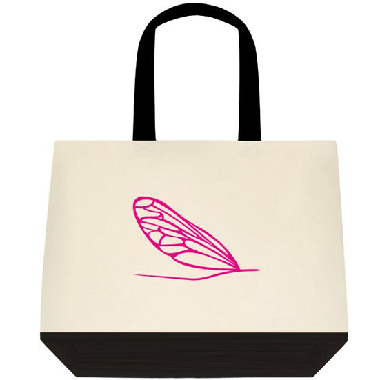 Le sac de coton rose