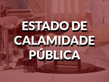 POSSIVEL PRORROGAÇÃO DO ESTADO DE CALAMIDADE PÚBLICA