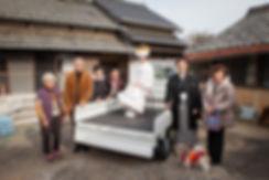 花嫁さんと家族と犬の前撮りロケ