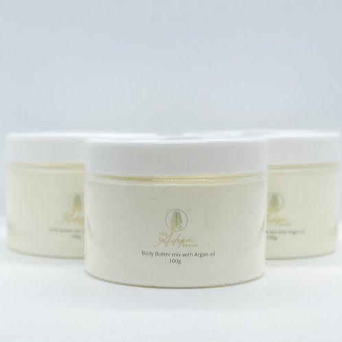 Body Butter mix with Argan oil