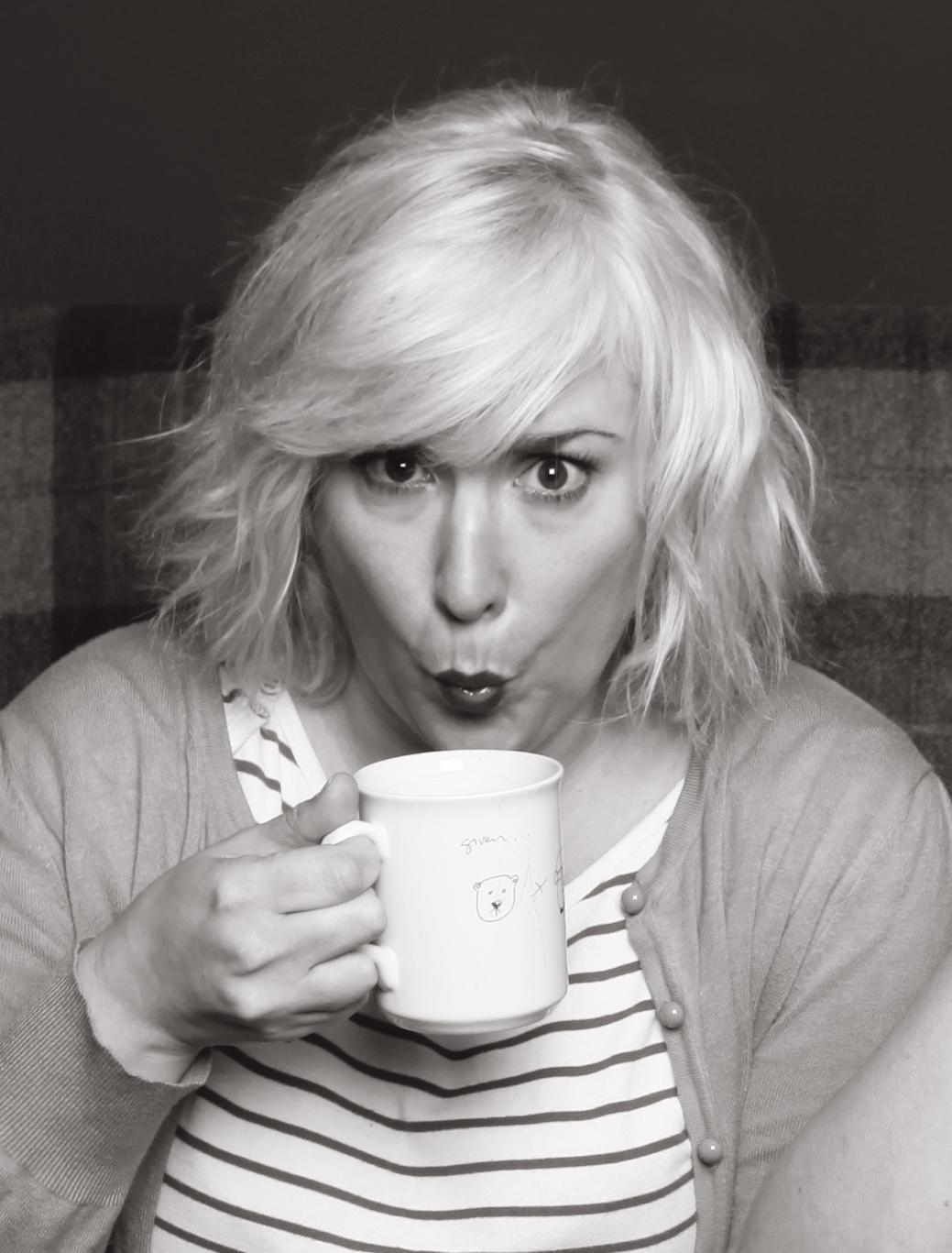 Me drinking tea