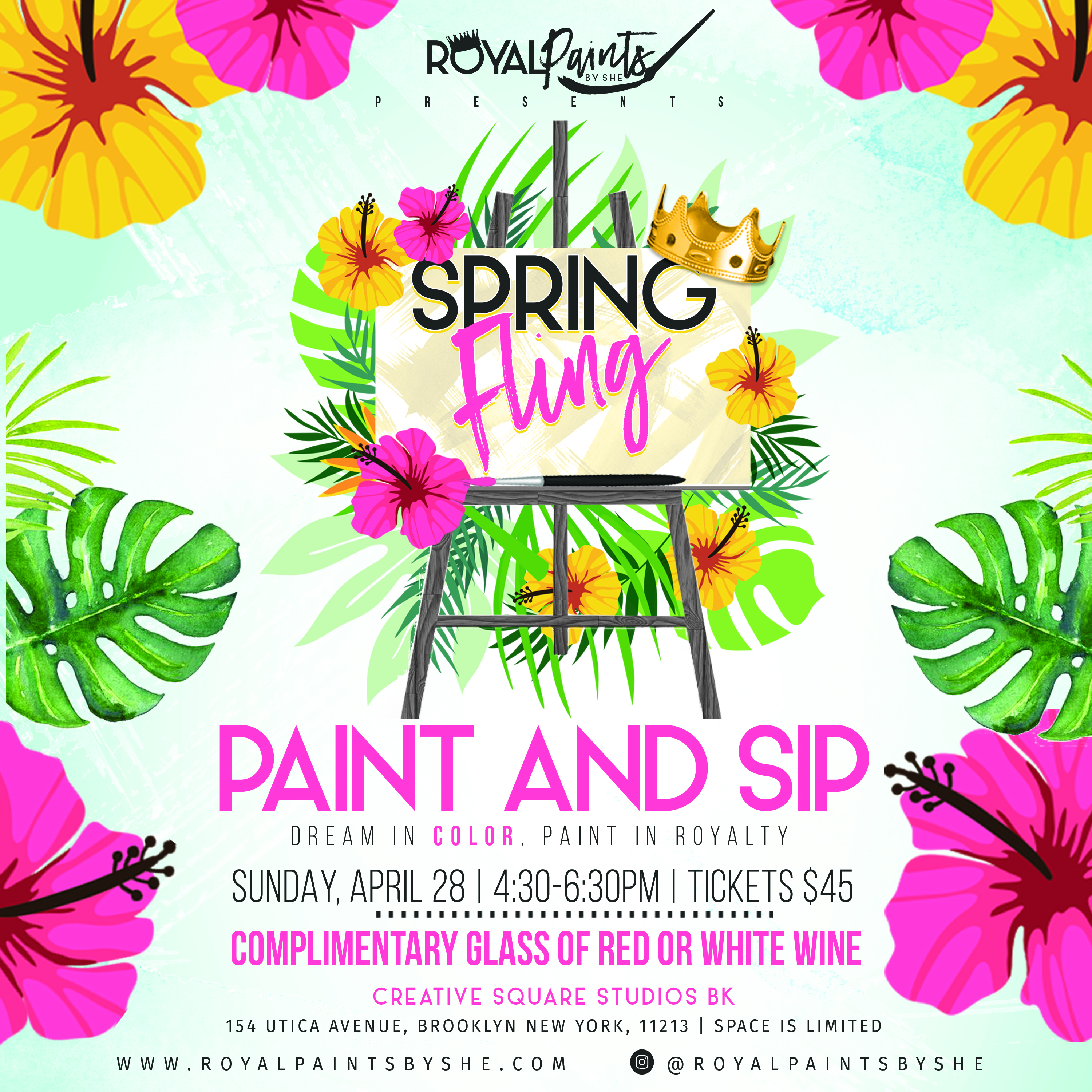 Royal Paints By She Presents Spring Fling Paint And Sip