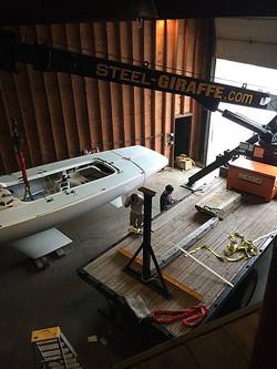 Sailboat Crane Assist