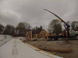 Wall panels crane install