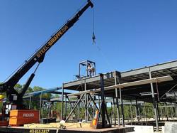 Steel erection using Crane