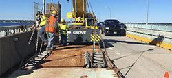 Newport Bridge rigging