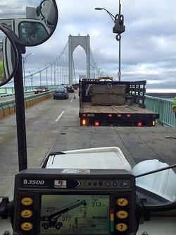 Newport Pell Bridge Crane Work