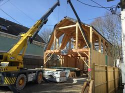 Frame building with Crane