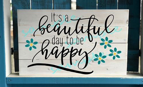Kids - It's a Beautiful Day to be Happy - 12x16