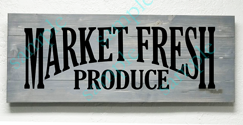 Market Fresh Produce - 16x36