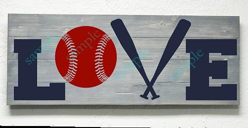 Private - Baseball Love - 16x36