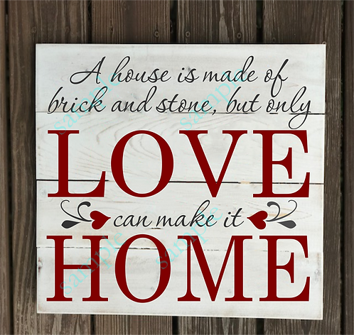 A house is made of brick - 14x14
