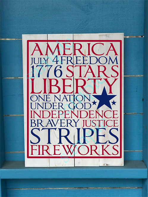 America - 16x20