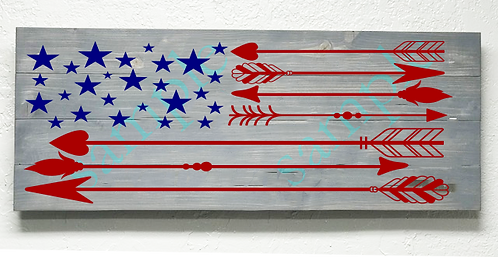 Private - Arrow American Flag - 16x36