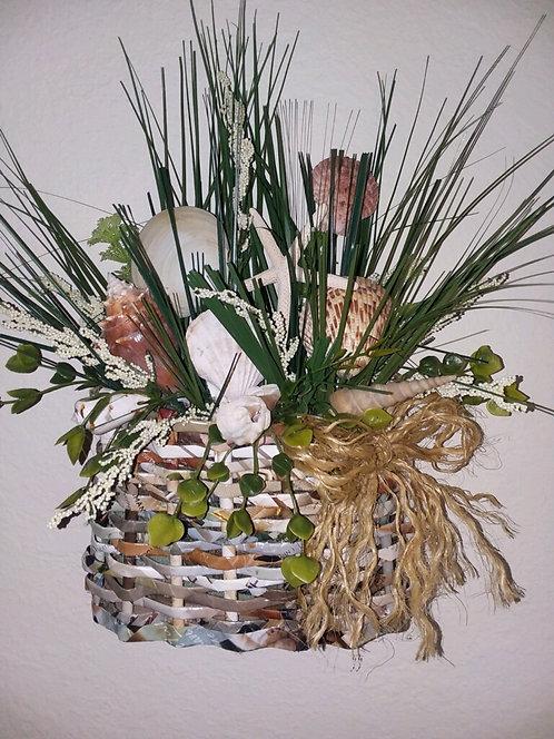 Cape Cod Rolled Magazine Basket & Embellishments