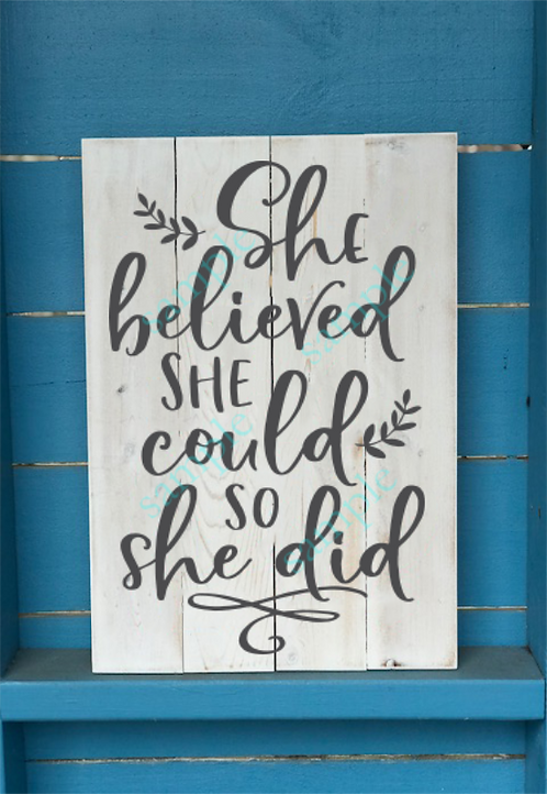 Kids - She Believed She Could - 12x16