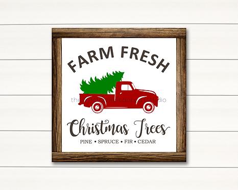 Farm Fresh Trees - 14x14