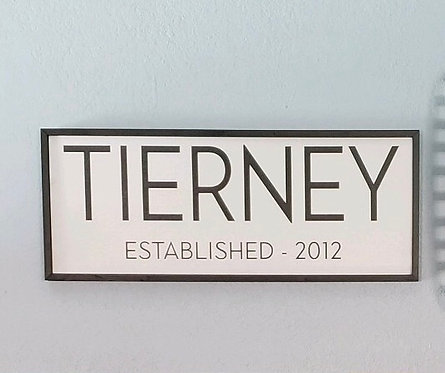 Private - Family Name Established -16x36