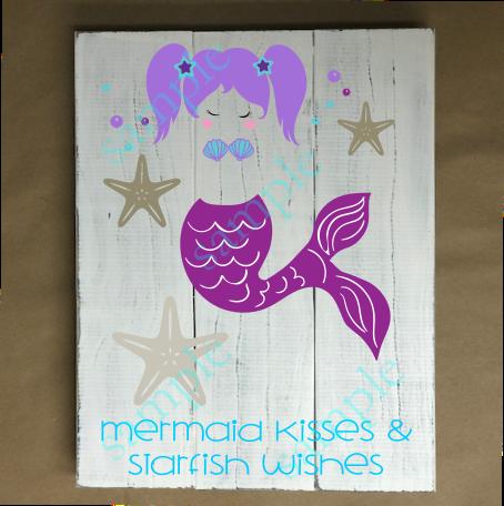 Private Kids - Mermaid Kisses & Starfish Wishes - 8x12