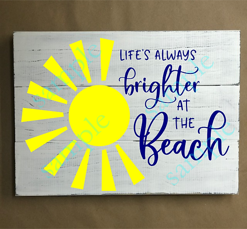 Private - Life's Brighter at the Beach - 12x14