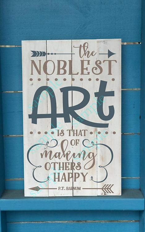The Noblest Art - 16x24