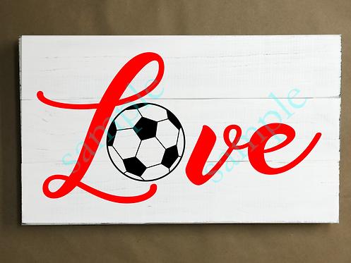Private - Soccer Love - 12x18