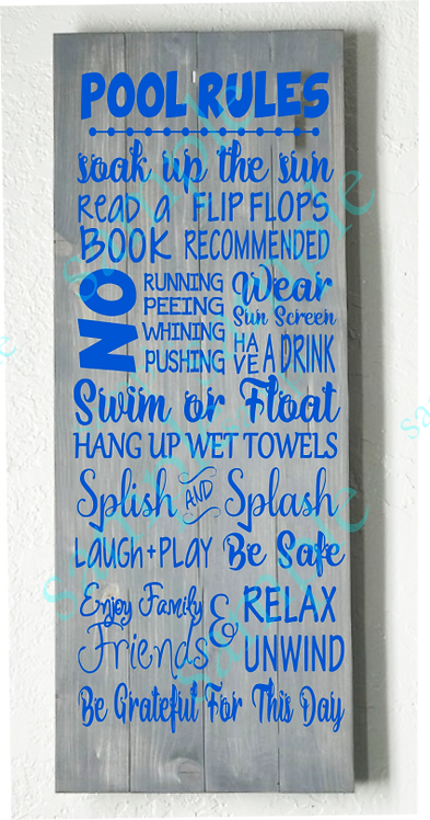 Private - Pool Rules - 16x36