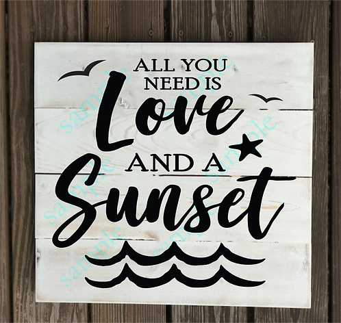 Love and a Sunset - 14x14