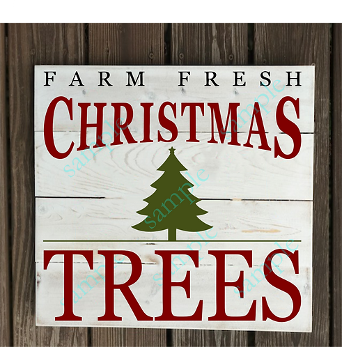 B2S0817 - Farm Fresh Christmas Trees 2 -14x14