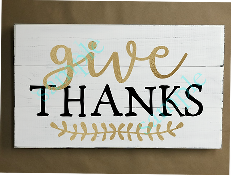 Private - Give Thanks - 12x18