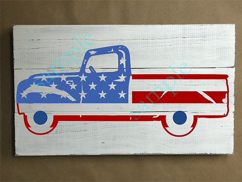 Private - Patriotic Truck 4 - 12x18