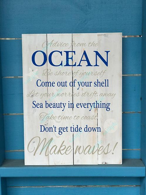 Advice from the Ocean - Sea Shells - 16x20