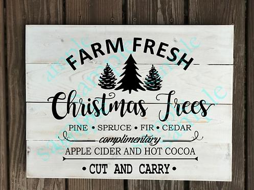 Private - Farm Fresh Christmas Trees-14x14