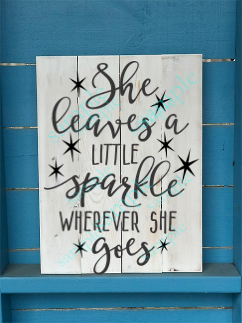 Kids - She Leaves a Little Sparkle -12x16
