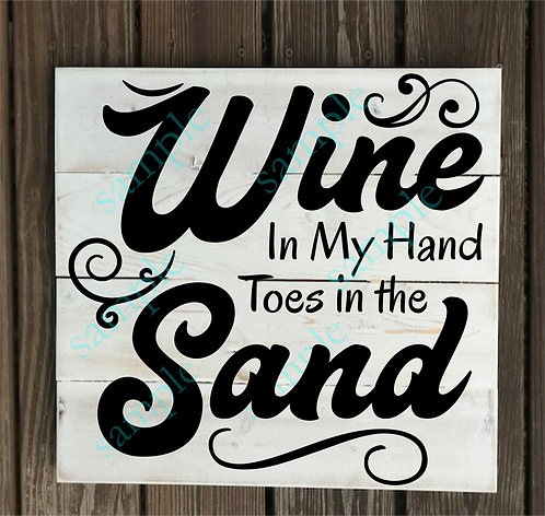 Wine in my hands... - 14x14