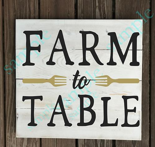 Farm to Table - 14x14