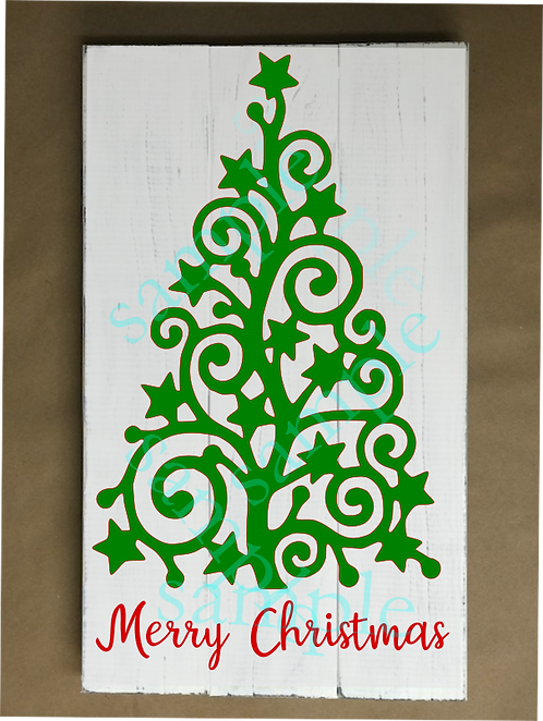 Swirl Christmas Tree - 12x18