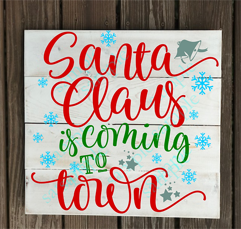 Private - Santa Claus is Coming -14x14
