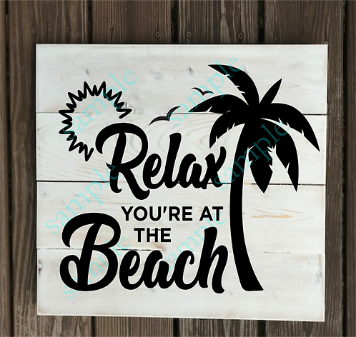 Private - Relax You're at the Beach - 14x14