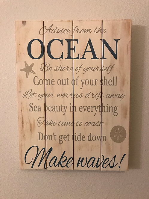 Private - Advice from the Ocean - Sea Shells - 16x20