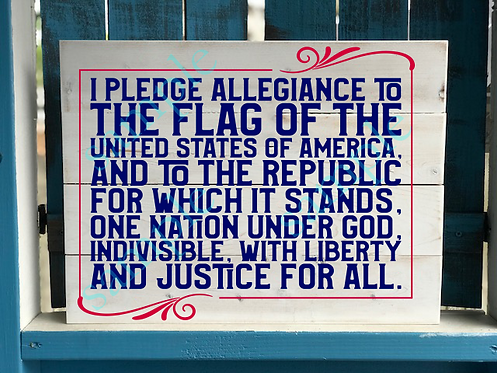 Pledge of Allegiance - 16x20