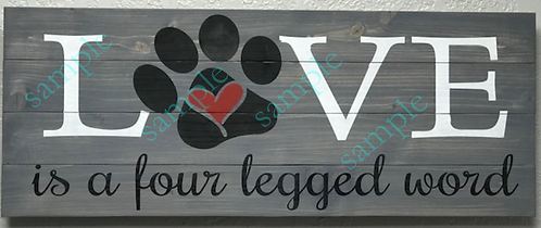 Private - Love is a four legged word - 16x36