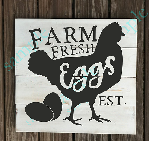 B2S0817 - Farm Fresh Eggs - 14x14