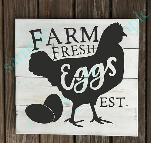 Private - Farm Fresh Eggs - 14x14
