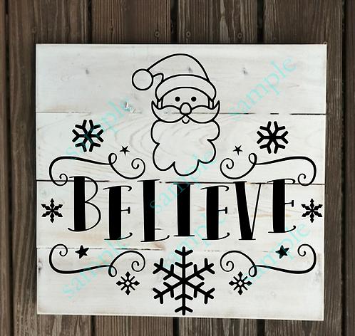 Private - Believe -14x14